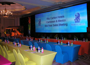 Ritz-Carlton Widescreen projection